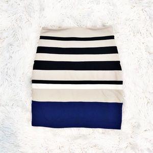 Express striped knit pencil skirt